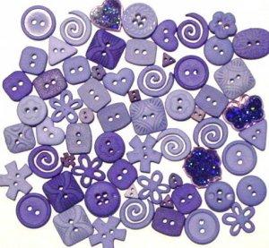 BLUE scrapbooking buttons by Dress It Up/ Jesse James (lot# 006)