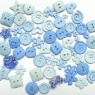 LIGHT BLUE scrapbooking buttons by Dress It Up/ Jesse James (lot# 007)