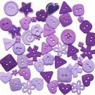 PURPLE scrapbooking buttons by Dress It Up/ Jesse James (lot# 010)