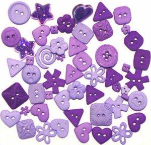 PURPLE scrapbooking buttons by Dress It Up/ Jesse James (lot# 010)