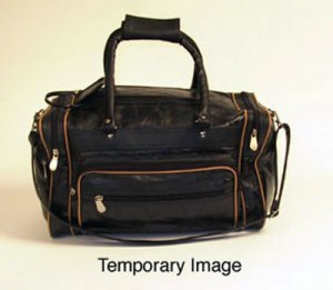 Genuine Leather Tote Bag With Brown Piping