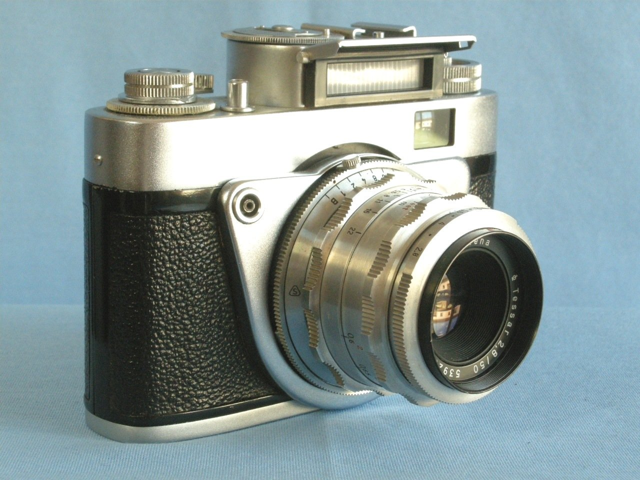 Vintage Altissa Altix-NB with Excellent Carl Zeiss Jena Tessar 2.8/50 · Made in Germany · ( DDR )