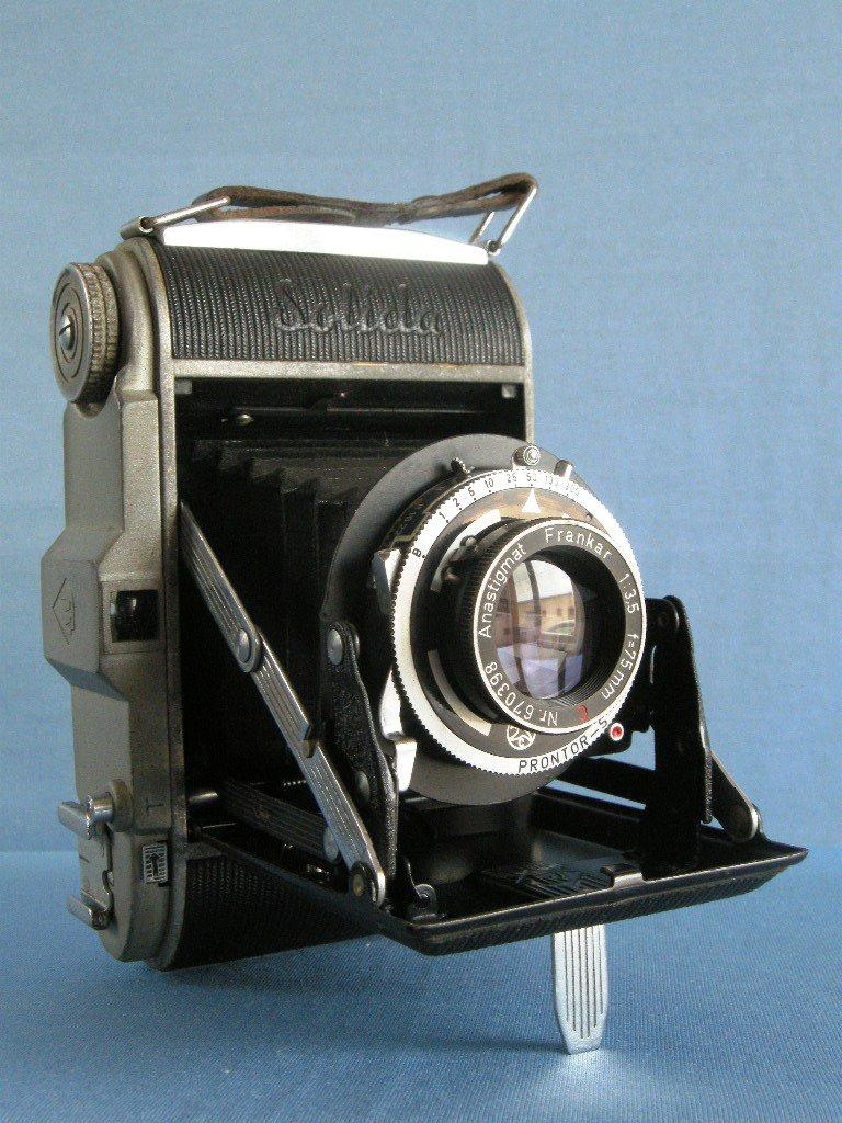 Franka Solida Folding Camera with Frankar C 3.5/75 · Made in Germany · ! US Zone !