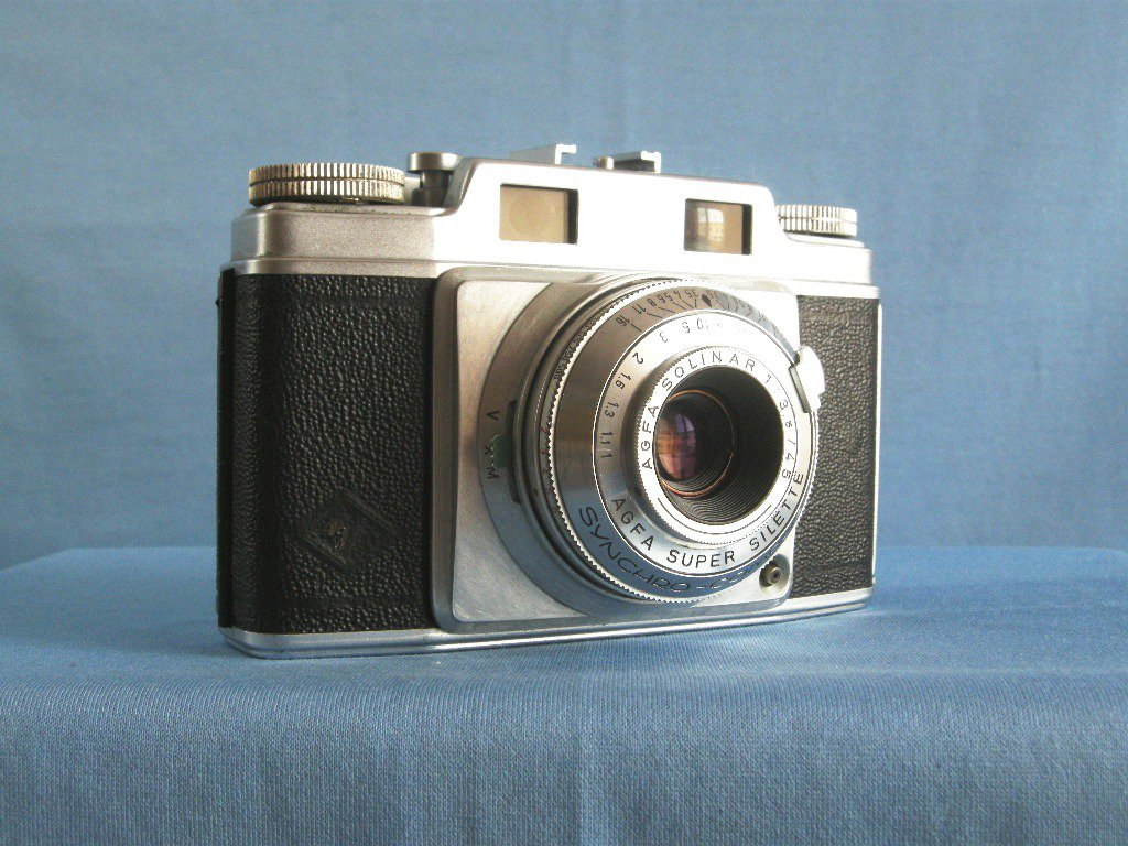 Vintage Rangefinder Agfa Super Silette with Solinar 3.5/45 & Synchro Compur · Made in Germany