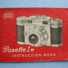 Vintage Braun Paxette I-M Instruction Book
