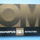 Vintage Olympus OM-1 Original Instructions Manual