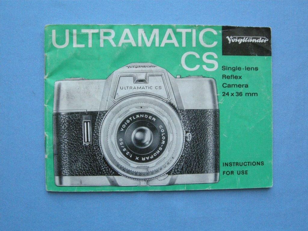 Vintage Voigtlander Ultramatic CS Original Instructions Manual