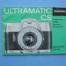 Vintage Voigtlander Ultramatic CS Original Instructions Manual