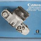 Vintage Canon AV-1 Original Instructions Manual