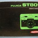 Vintage Fujica ST801 Original Instructions Manual