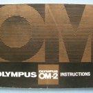 Vintage OLympus OM-2 Original Instructions Manual (17,5*12,5 cm)