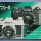 Vintage Yashica FX-1 Original Instructions Manual