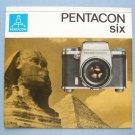 Vintage Pentacon Six Original Sales Brochure in German
