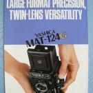 Vintage Yashica Mat-124G Original Sales Brochure