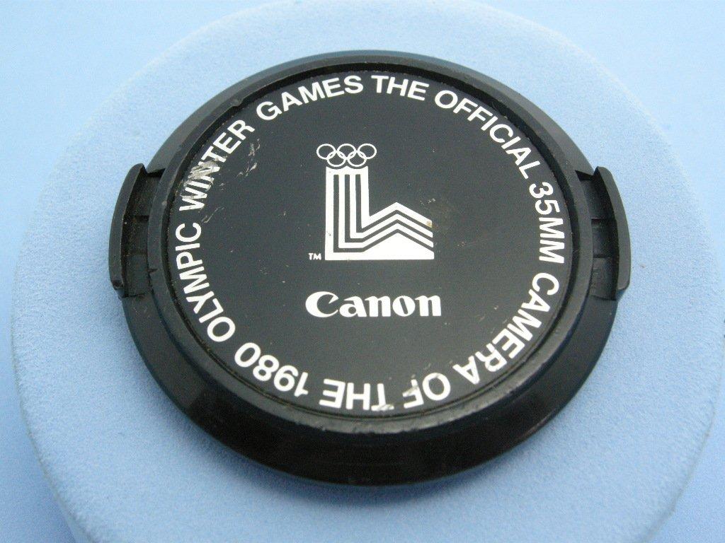 Vintage Canon C-52 Olympyc Winter Games 1980 Original Front Lens Cap