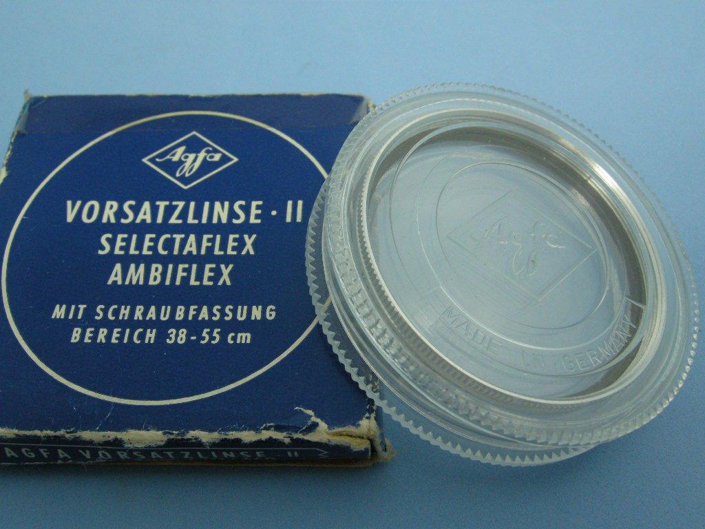 Vintage Agfa Vorsatzlinse 46mm Original Close Up Filter for Ambiflex & Selectaflex Cameras