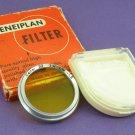 Vintage Cenei Ceneiplan LW -1,5 Original 32mm Yellow Filter  ·  Made in Germany