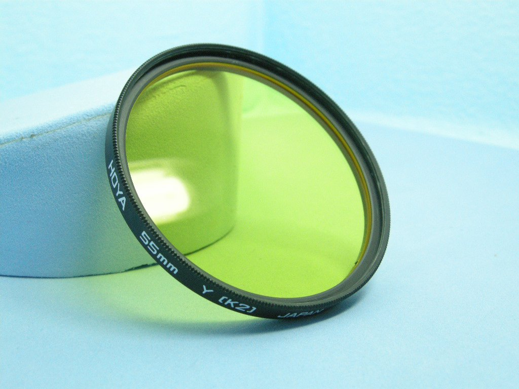 Vintage Hoya Y K2  55mm Original Filter  ·  Made in Japan
