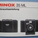 Vintage Minolx 35 ML Original Instruction Manual in German