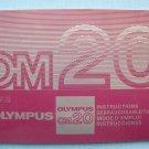 Vintage Olympus OM20 Original Instruction Manual