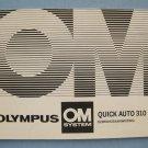 Vintage Olynpus OM System Auto Quick 310 Original Instruction Manual in Dutch