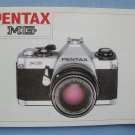 Vintage Pentax MG Original Instruction Manual