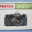 Vintage Pentax MV Original Instruction Manual