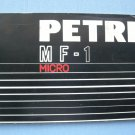 Vintage Petri MF-1 Original Instruction Manual