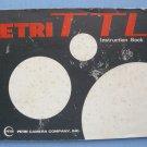 Vintage Petri TTL Original Instruction Manual