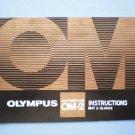 Vintage Olympus OM-2 at a Glance Original Instruction Manual