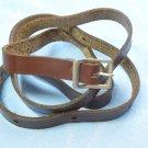 Vintage Genuine Leather Strap 860*11 mm with Metal Old Metal Buckle