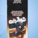 Vintage Canon AV-1 Original Sales Brochure