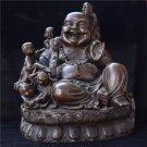 Red copper Maitreya Buddha ornaments copper five son naofo bronze home crafts Buddha statues