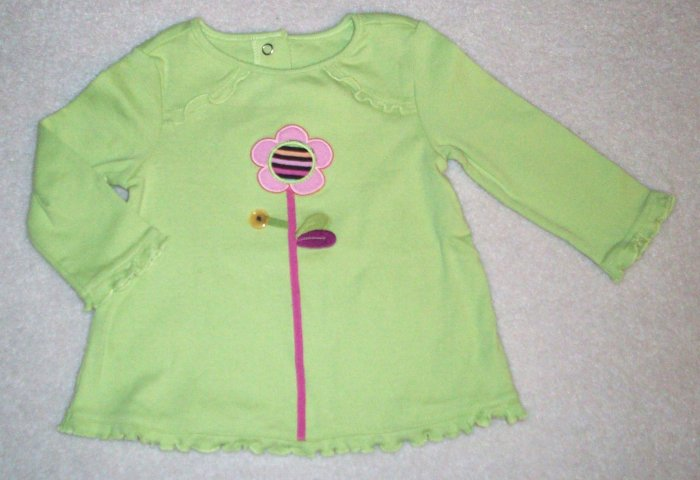 Gymboree NWT Imaginary Friends Green Swing Top 6-12m