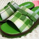 GYMBOREE NWT Dandelion Wishes Plaid Slides 9