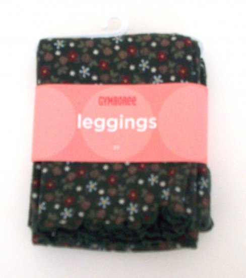 GYMBOREE NWT Mountain Cabin Floral Leggings 3T