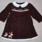 GYMBOREE NWT Colorful Village Brown Dress 18-24m