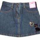 GYMBOREE NWT Glamour Kitty Denim Skort 3