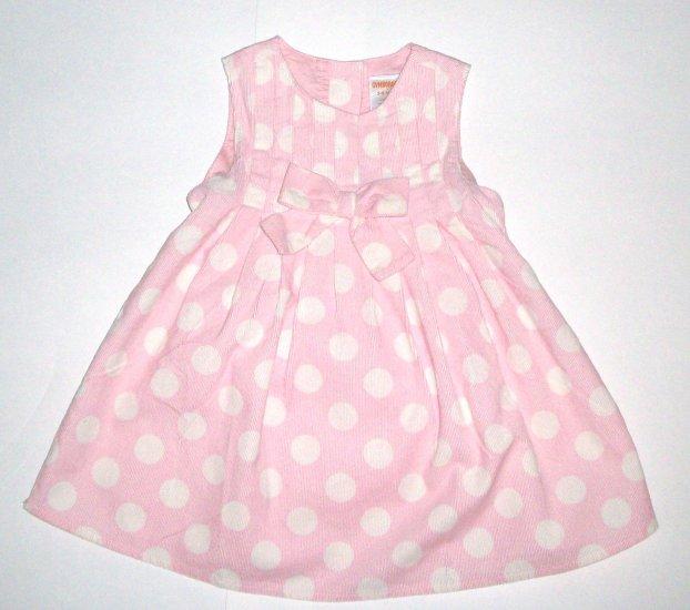 GYMBOREE NWT Little Panda Polka Dot Corduroy Dress 3-6m