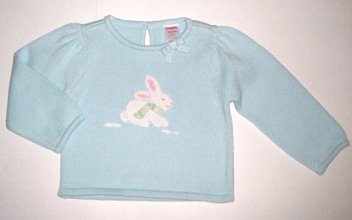 GYMBOREE NWT Snow Princess Bunny Sweater 12-18m