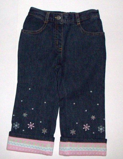GYMBOREE NWT Snow Princess Denim Jeans 18-24m