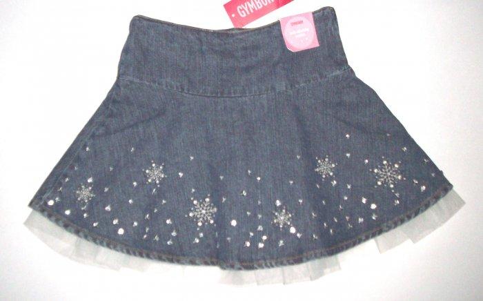 GYMBOREE NWT Snow Princess Denim and Tulle Skirt 3