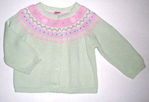 GYMBOREE NWT Snow Princess Green Sweater 3T