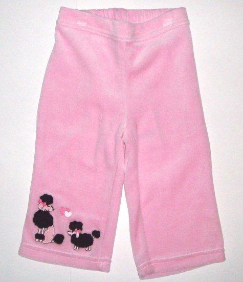 GYMBOREE NWT Tres Chic Pink Velour Pants 6-12m