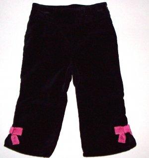 GYMBOREE NWT Tres Chic Black Bow Pants 12-18m