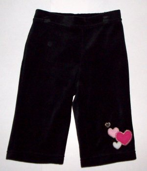 GYMBOREE NWT Tres Chic Black Velour Pants 18-24m