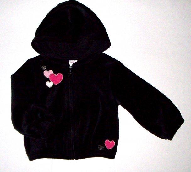 GYMBOREE NWT Tres Chic Black Velour Jacket 2T