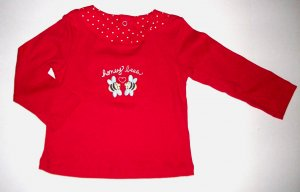 GYMBOREE NWT Wish You Were Here Red Bee Top 18-24m