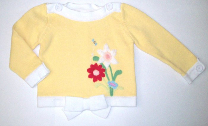 GYMBOREE NWT Wish You Were Here Yellow Sweater 2T