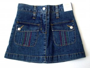 GYMBOREE NWT Wish You Were Here Denim Skirt 4